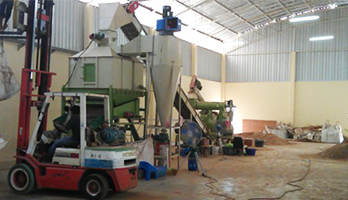 Wood shavings pellet project in Thailand